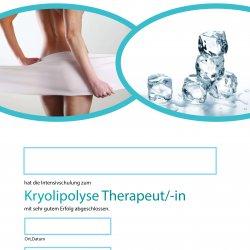 Zertifikat Kryolipolyse-Therapeut